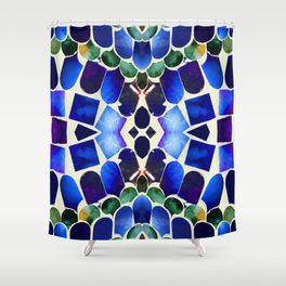 Paua Aqua Forest Shower Curtain