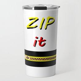 Zip it Black Yellow Red jGibney The MUSEUM Gifts Travel Mug