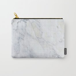 Luxury Gray Marble Carry-All Pouch