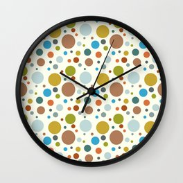 Robot Babies Polka Dots Wall Clock