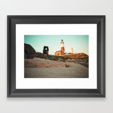 Meet me  Framed Art Print
