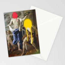 Spray Paint Pop Art Graffiti Le Triomphe de David Nicolas Poussin Remix Stationery Cards