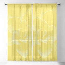Succulent Plant Yellow Mellow Color #decor #society6 #buyart Sheer Curtain