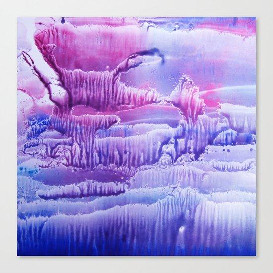 blue underwater world 2 Canvas Print