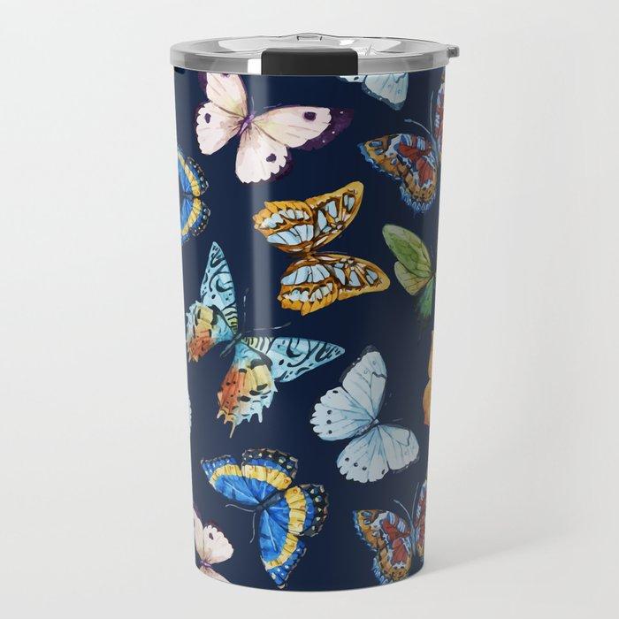 Butterfly Pattern 03 Travel Mug