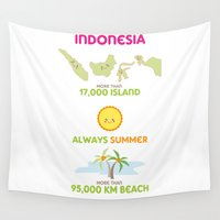 indonesia Wall Tapestries featuring Indonesia by Franciska Windy
