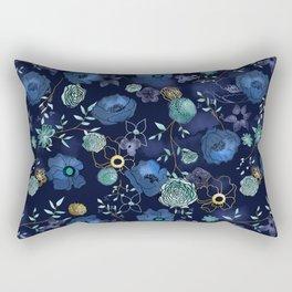 Cindy large floral print Rectangular Pillow