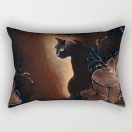 Black Kitty Halloween Rectangular Pillow