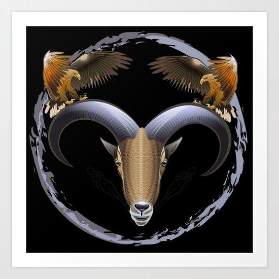 claws n horns Art Print