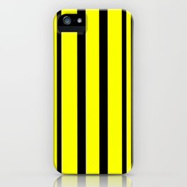 NEON YELLOW AND BLACK THIN AND THICK STRIPES iPhone Case