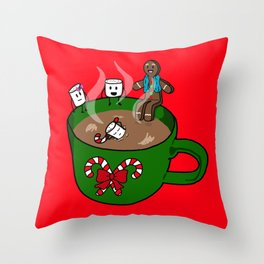 Relaxing Hot Cocoa Throw Pillow