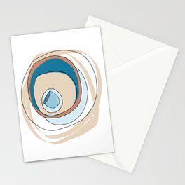 Beachside platelets Stationery Cards