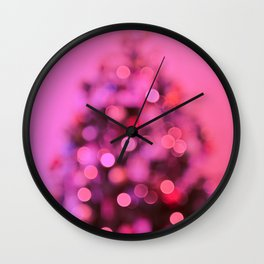 So this is Christmas in pink Wall Clock