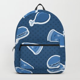 Pizza Burgers and Fried Chicken Time on Blue Backpack