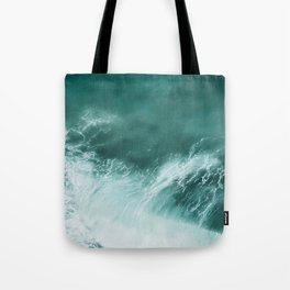 Green Ocean Wave Photograph Tote Bag