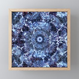 Iris Mandala Blue Framed Mini Art Print