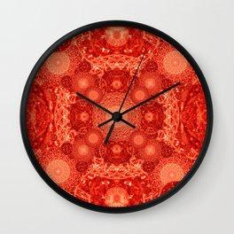 Volcanic Mandala Wall Clock