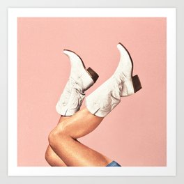 These Boots - Pink Art Print