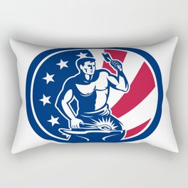 American Farrier USA Flag Icon Rectangular Pillow