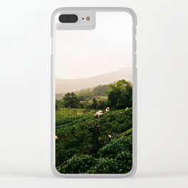 Taiwan - Maokong Mountain: Harvesting Green Tea Clear iPhone Case