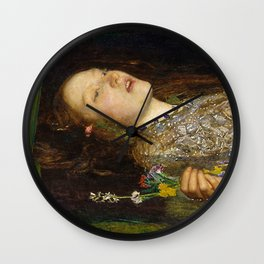 OPHELIA - JOHN EVERETT MILLAIS Wall Clock