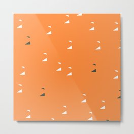 Tangy Tangerine Contemporary Chic Abstract Pattern Metal Print