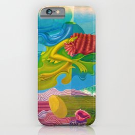 World of the Deep Seas landscape painting by Hilaire hiler iPhone Case
