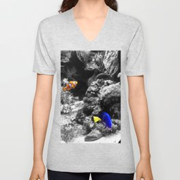 Nemo and Dora Unisex V-Neck