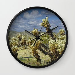 Cactus called teddy bear cholla No.0265 Wall Clock