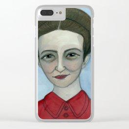 """Simone de Beauvoir Literary Portrait,  """"Simone au jour le jour"""" Clear iPhone Case"""