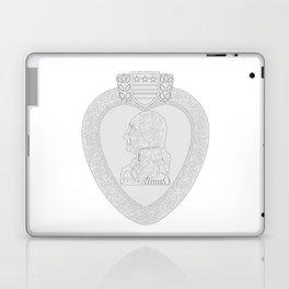 Purple Heart Medal Outline Laptop & iPad Skin