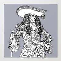 spanish Canvas Prints featuring Spanish Explorer by Art of Tom Tierney