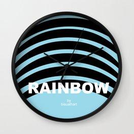 rainbow logo Wall Clock