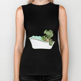 Bathtub turtle Biker Tank