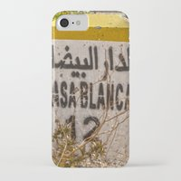 casablanca iPhone & iPod Cases featuring Casablanca milestone with old Volkswagen microbus by Premium