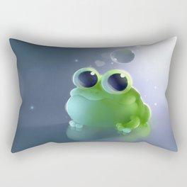 Apple Frog Rectangular Pillow