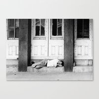 drunk Canvas Prints featuring Drunk by Sidney Phillips