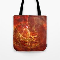 beauty and the beast Tote Bags featuring beauty and the Beast by  Agostino Lo Coco