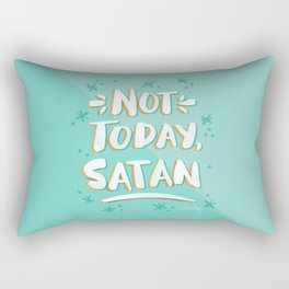 Not Today, Satan – Mint & Gold Palette Rectangular Pillow