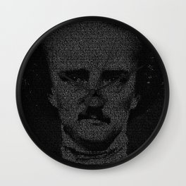 Mr. Poe Typographic Portrait Wall Clock