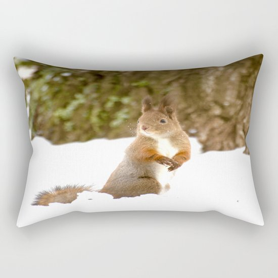 Cute Squirrel In The Forest Rectangular Pillow