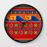 mexico Wall Clocks featuring Mexico by rusanovska