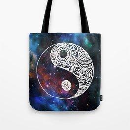 Galaxy Yin Yang Tote Bag