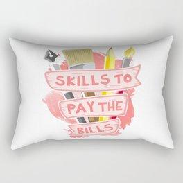 Art First Life Later Rectangular Pillow
