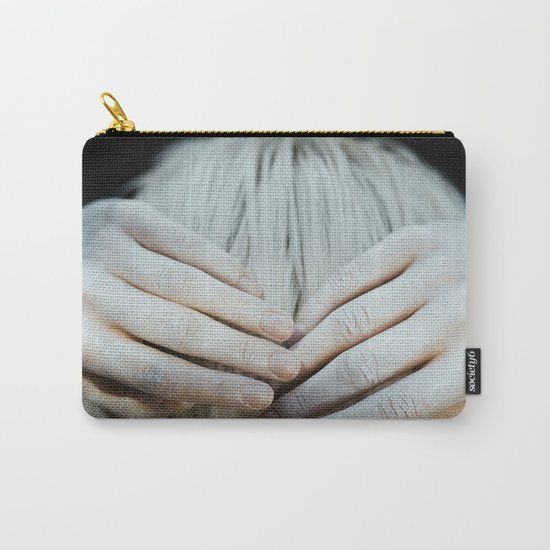 White hair Carry-All Pouch