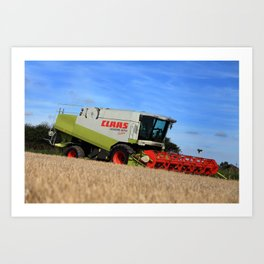 A Touch Of Claas 'Claas Lexion 470' Combine Harvester Art Print