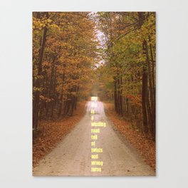 The roads we sometimes travel. Canvas Print