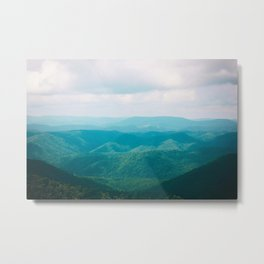Allegheny Mountain Layers Metal Print