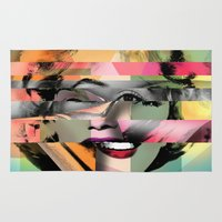rowing Area & Throw Rugs featuring Marilyn by mark ashkenazi