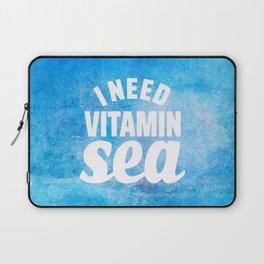 I Need Vitamin Sea Blue Laptop Sleeve